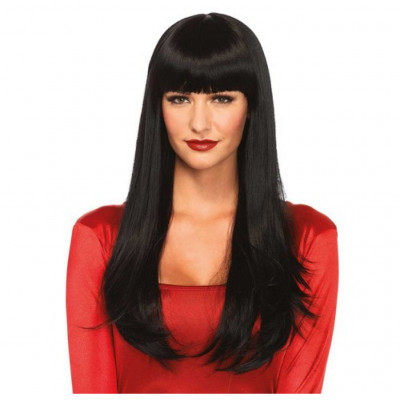 Black Long Straight Wig
