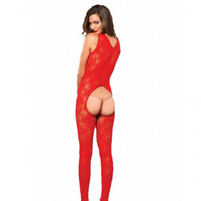Sweetheart Red Crotchless Bodystocking