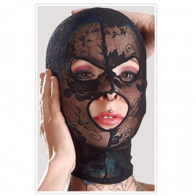 Black Lace Hood with Three Holes