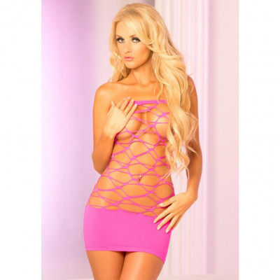 Pink Net Tube Dress