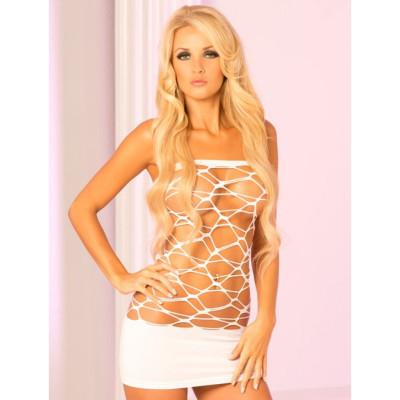 White Net Tube Dress