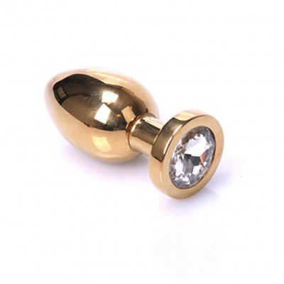 Gold Stainless steel Butt plug Small