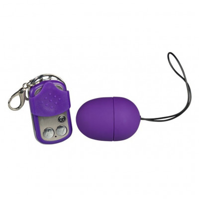 Wireless Remote Controlled Purple and Silky Vibro-bullet