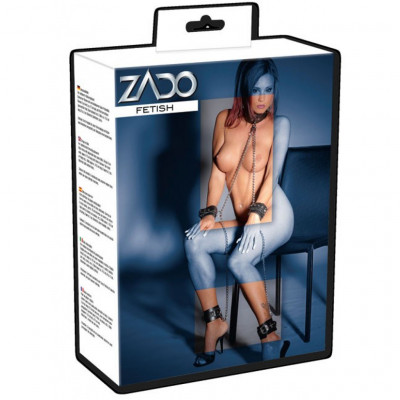 Zado Leather and Metal Leather Fetish adjustable Restraints Set