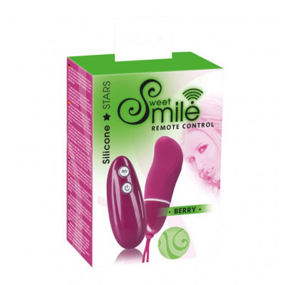 Sweet Smile Wireless Remote Controlled Bullet Vibe Berry