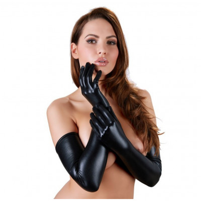 Cottelli Long Wetlook Gloves