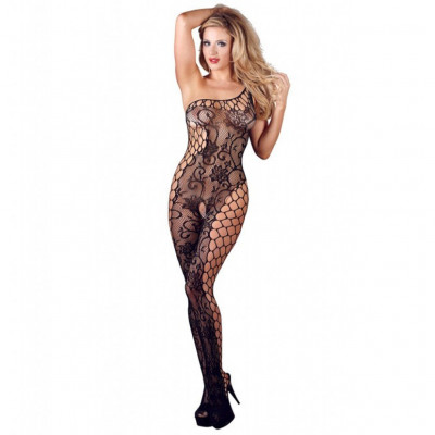 One Shoulder Crotchless Bodystocking