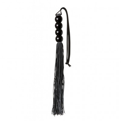 Black Silicone Flogger Whip 35cm