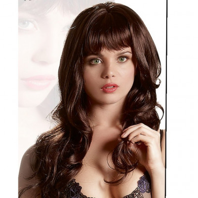 Long Dark Brown Wavy Wig