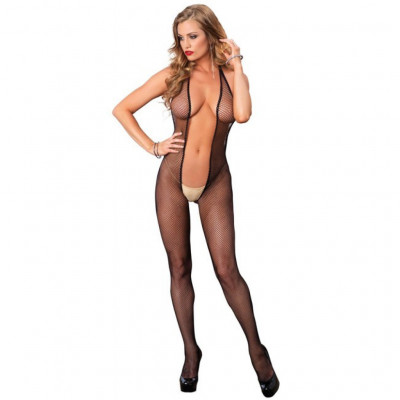 Bare Bottom Fishnet Bodystocking