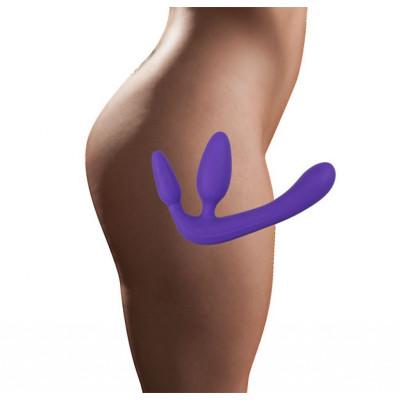 Безремневой страпон фиолетовый