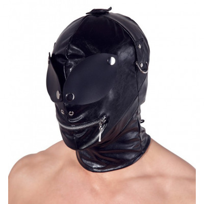 Δερμάτινη μαύρη φετιχιστική μάσκα ρόλων