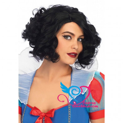Leg Avenue Curly Bob Wig Black
