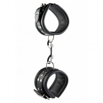 Black Leather Ankle Cuffs 6.5 cm