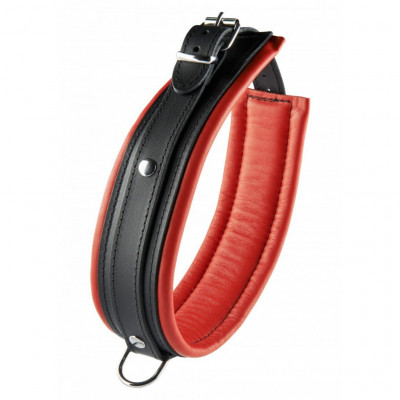 Red Leather Collar 5 cm