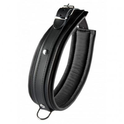 Black Leather Collar 5 cm