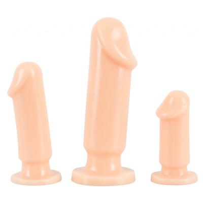 Σέτ τριών εκπεδευτικών Πρωκτικών σφηνών ομοιώμα πέους
