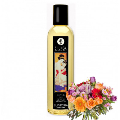 Shunga Euphoria Floral Massage Oil 250ml