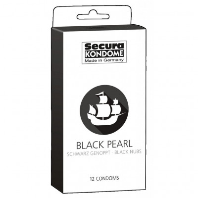 Secura Black Pearl 12 Condoms