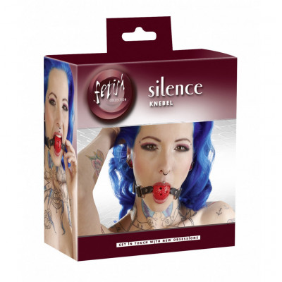 Fetish Silence Ball Gag Red