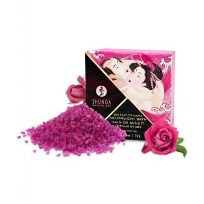 Ароматическая соль для ванны Shunga Moonlight Bath Aphrodisia Роза 75г