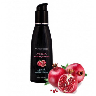 Wicked Aqua Pomegranate Edible Lube 120ml