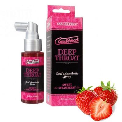 Doc Johnson Αναισθητικό σπρέι φράουλας για βαθύ στοματικό σέξ