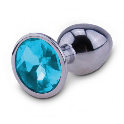 RelaXxxx Silver Starter Alu Butt Plug Light Blue Medium