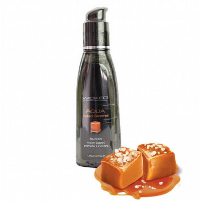 Wicked Aqua Salted Caramel Edible Lube 120ml