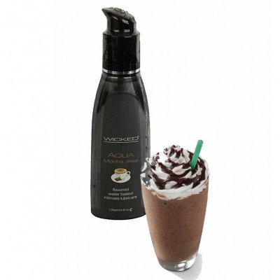 Wicked Aqua Mocha Java Edible Lube 120ml