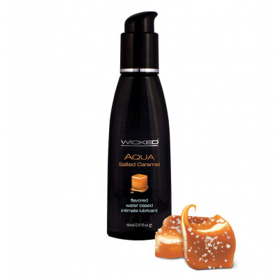 Wicked Aqua Salted Caramel Edible Lube 60ml