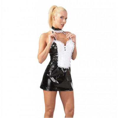 Shiny Vinyl French Maid Dress
