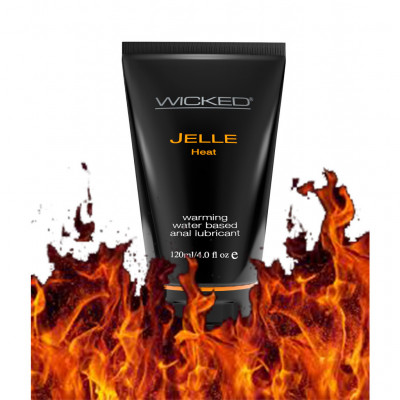 Wicked Jelle Heat Warming Waterbased Lube 120ml