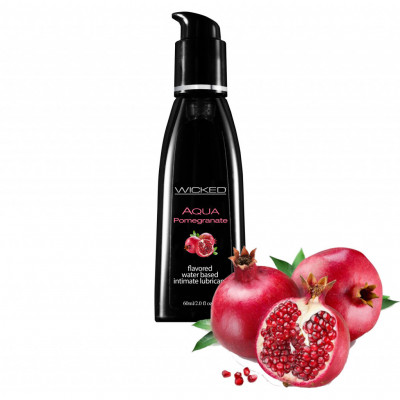 Wicked Aqua Pomegranate Edible Lube 60ml