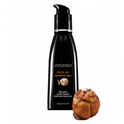 Wicked Aqua Cinnamon Bun Edible Lube 60ml