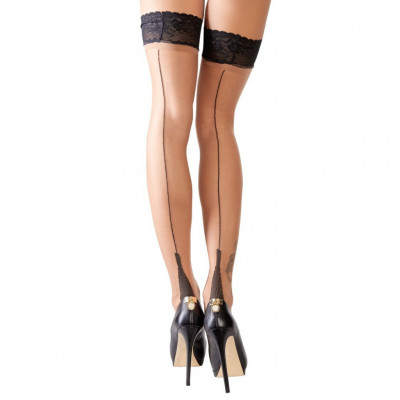 Cottelli Hold Ups with Back Seam