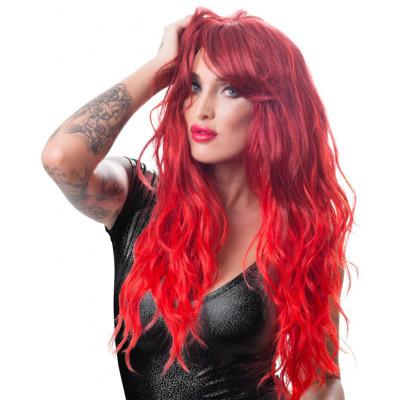 Περούκα με κόκκινα σπαστά μακριά μαλλιά