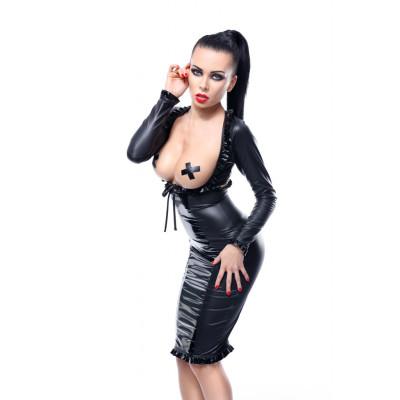 Виниловый комплект Erna с открытой грудью