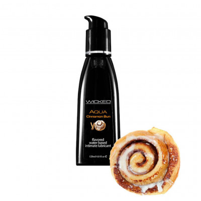 Wicked Aqua Cinnamon Bun Edible Lube 120ml