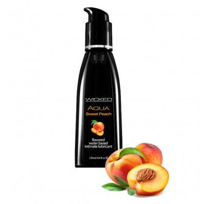 Wicked Aqua Sweet Peach Edible Lube 120ml