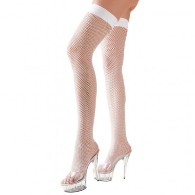 White Fishnet Hold-ups