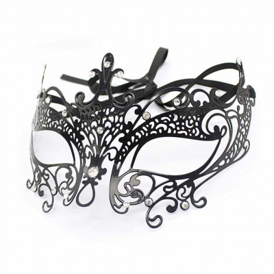 Decorative Metal Eye Mask with Rhinestone