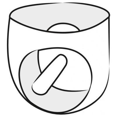 LateX трусики из латекса с анальным дилдо M/L