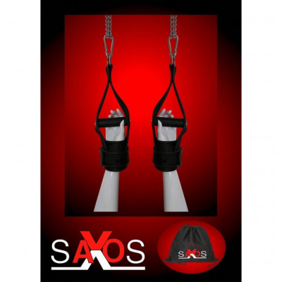 Κρεμαστές δερμάτινες χειροπέδες Saxos
