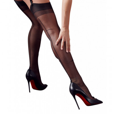Classic Black Stocking with Seam