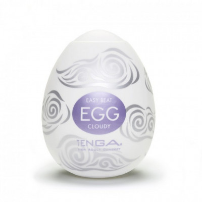 Tenga Egg Cloudy White Chrome