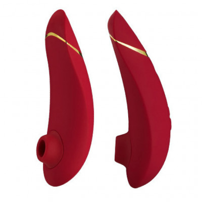 Womanizer Premium Clitoral Stimulator Red/Gold