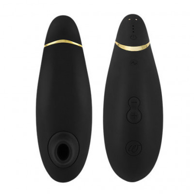 Womanizer Premium Clitoral Stimulator Black/Gold