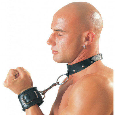 Zado Leather Collar with Ring