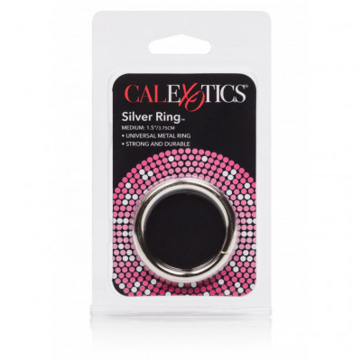 Calexotics Silver Cock Ring Medium 37mm